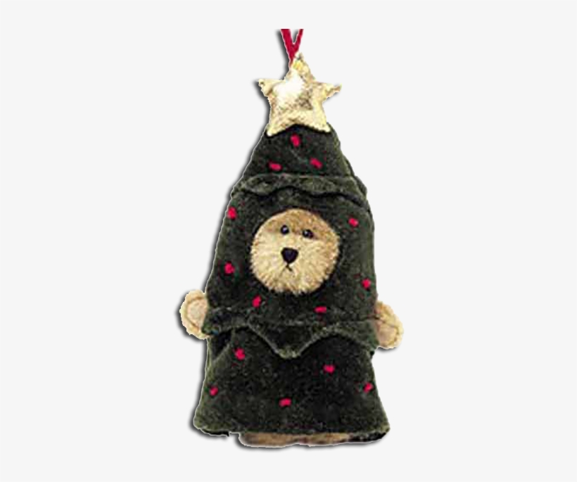 Boyds Plush Hanging Ornament Lil' Frazier Teddy Bear - Christmas Tree, transparent png #1714769