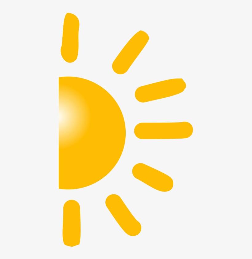 Sun half. Clipart png high resolution