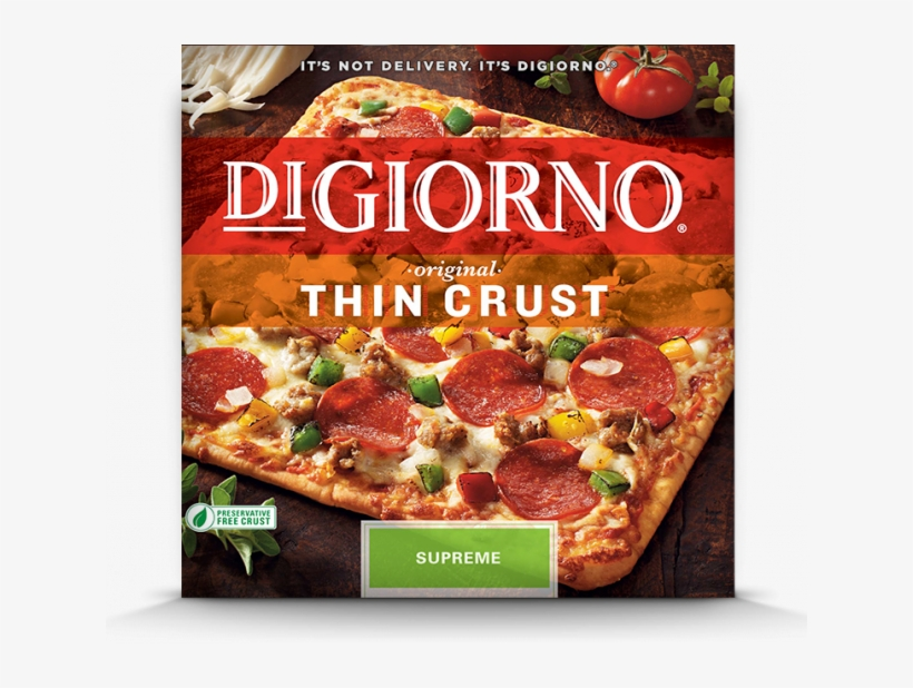 Hurry And Print This Rare $6/3 Digiorno Pizza Coupon - Supreme Pizza Thin Crust, transparent png #1715461