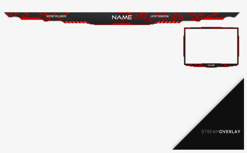 Red - Stream Overlay Png Red, transparent png #1715543