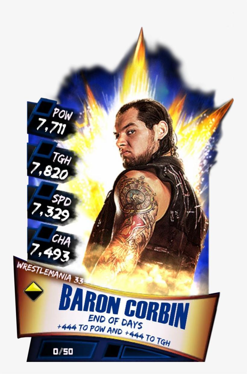 Baroncorbin S3 14 Wrestlemania33 - Wwe Supercard Wrestlemania 33 Carmella, transparent png #1716927