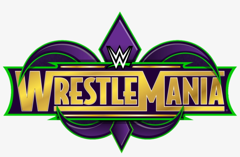 The Entire Wrestlemania 34 Card In One Place - Wwe Wrestlemania 34 Logo, transparent png #1718472
