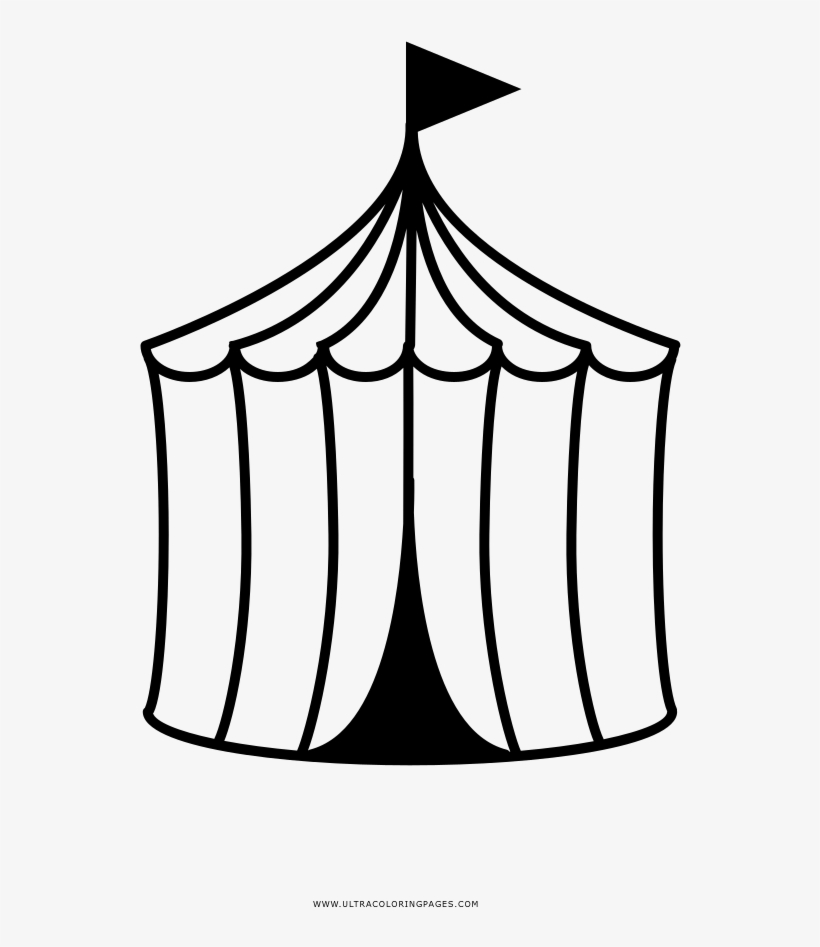 Circus Tent Coloring Page Circus Free Transparent Png Download