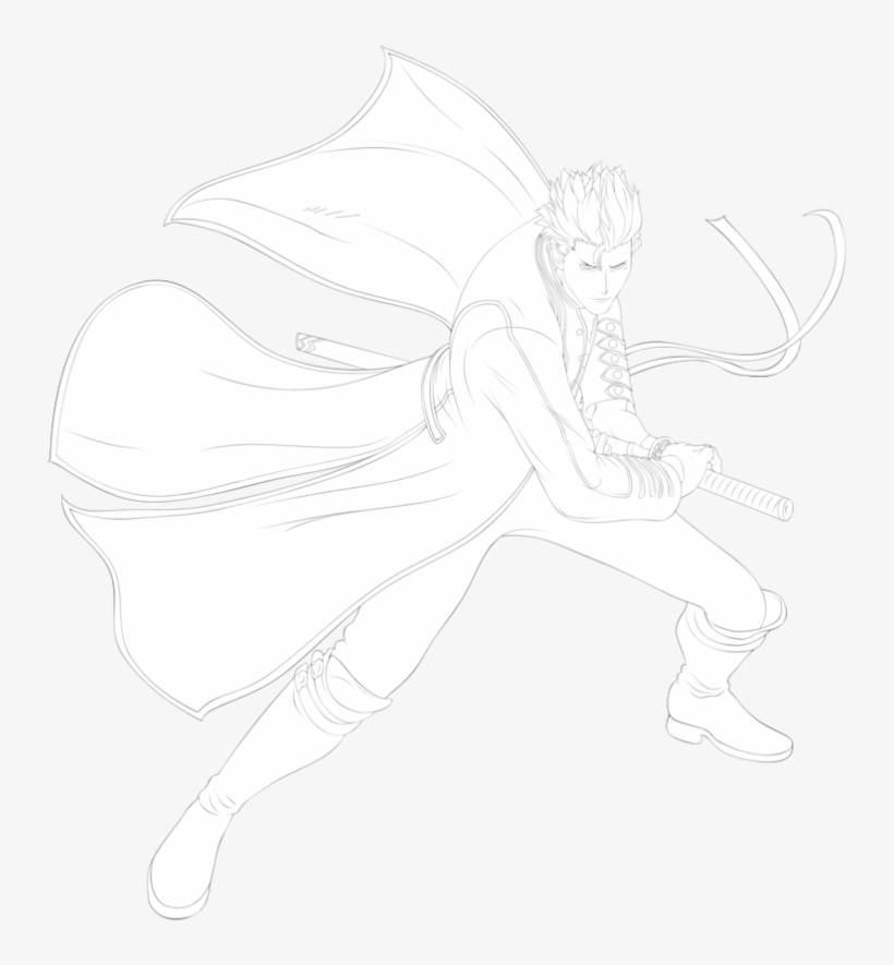 28 Collection Of Vergil Dmc Drawing - Devil May Cry Vergil Drawing, transparent png #1721386