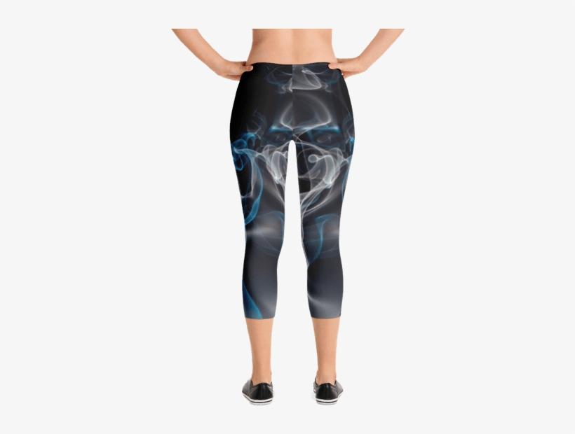 7cce923dbd9 Blue Smoke Capri Leggings - Gear Fuel Strong Is The New Skinny Blue Splash  - Active