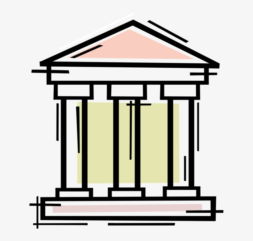 Vector Illustration Of Financial Banking Institution - Case Studies In Bank Lending, transparent png #1721942