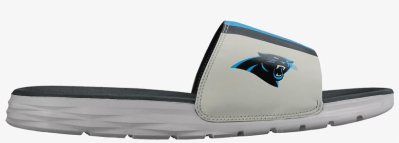 Solarsoft Nike Slides Carolina Panthers Official Shop - Nike Men's Benassi Solarsoft Team Slides, Gray, transparent png #1723757