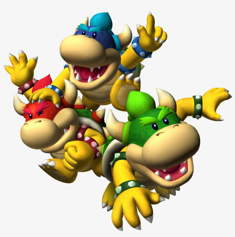 Bowser Jr - Http - //www - Mariowiki - Com/images/9/90/smg - Koopa Kids Mario Party, transparent png #1724068