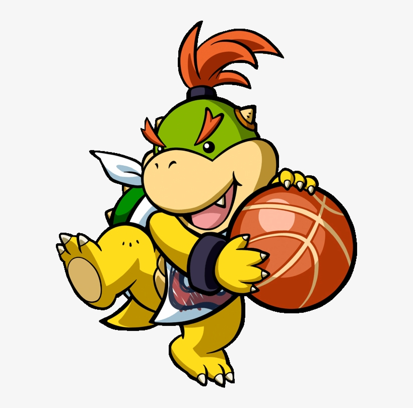 Mario Hoops 3 On Paper Mario Bowser Jr Png Free