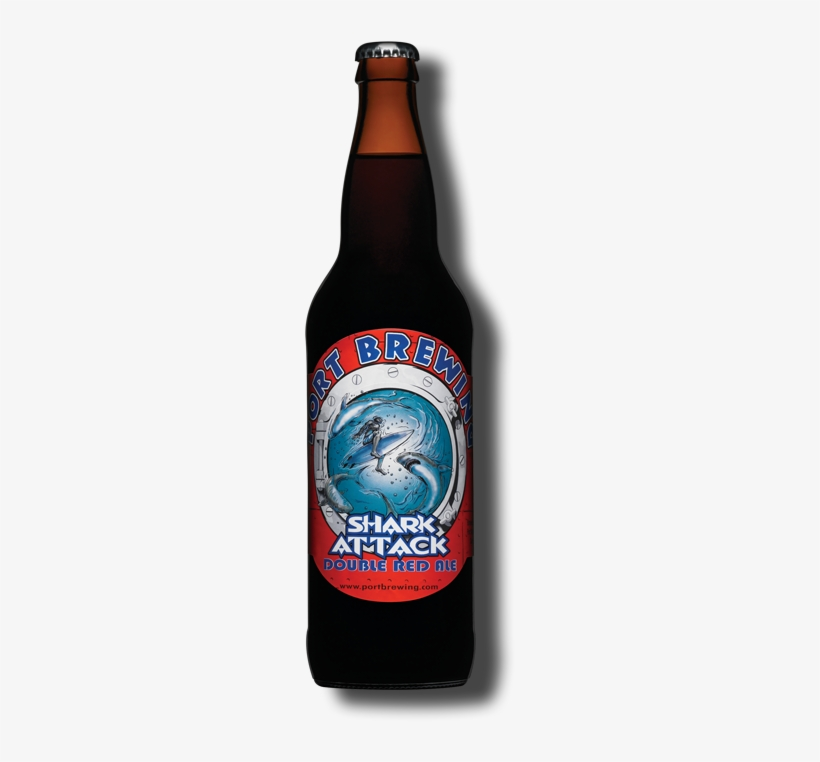 Port Brewing Company - Pizza Port Shark Attack Double Red Ale, transparent png #1726013