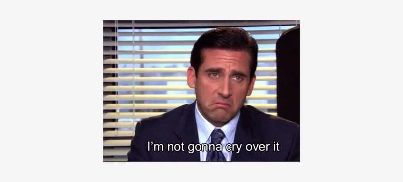 Michael Scott Foot - Crying The Office Gif, transparent png #1726353
