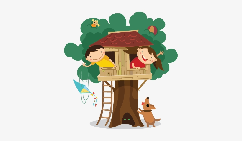 Clip Art Free Stock Children In The Treehouse Preschool - Tree House Clipart, transparent png #1726396