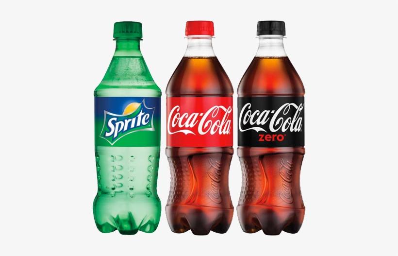 Beverages - 20 Oz Bottled Soda, transparent png #1729027