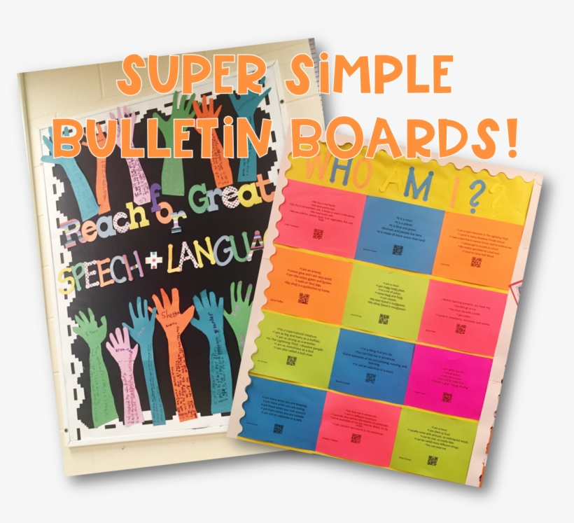 Quick & Easy Interactive Bulletin Boards For Speech - Bulletin Board, transparent png #1730212