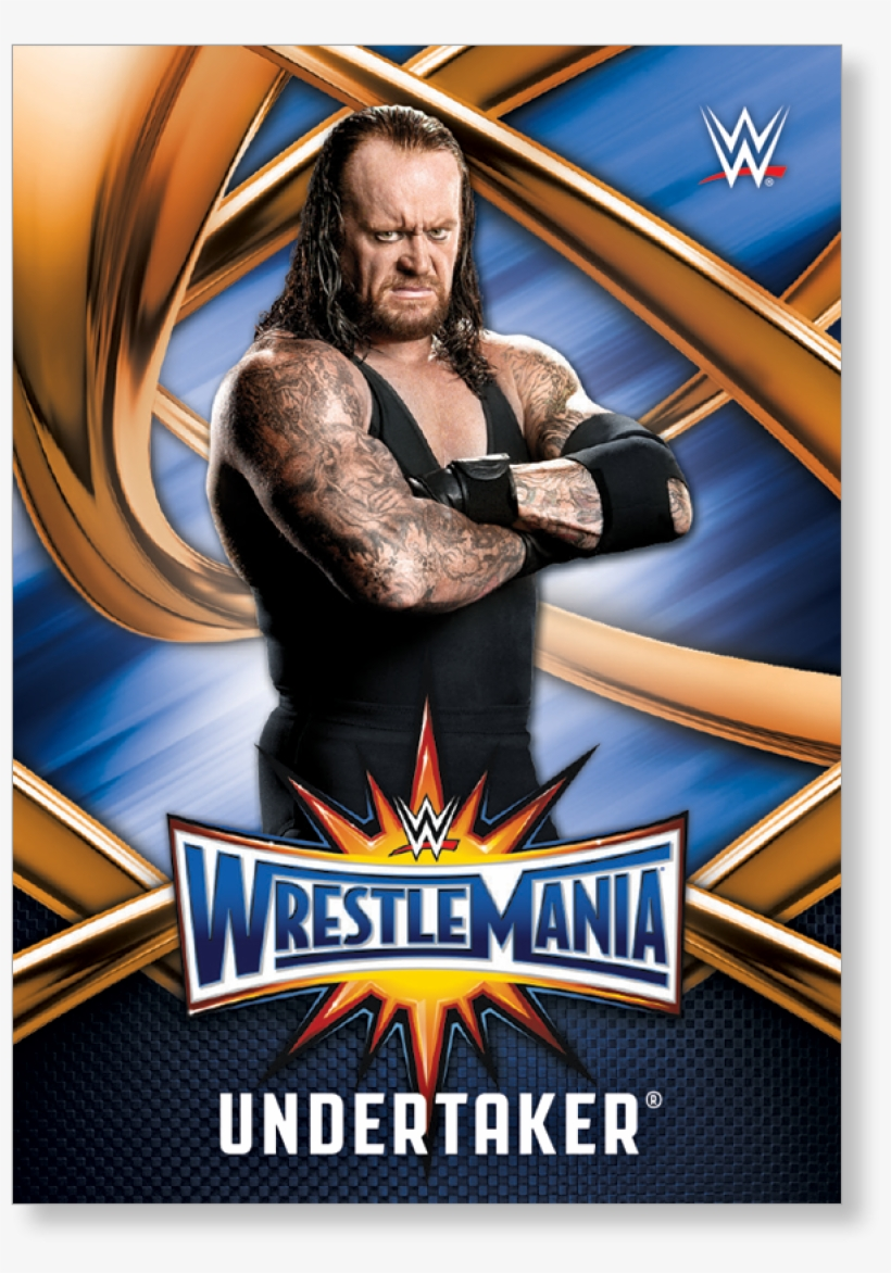 Undertaker 2017 Wwe Road To Wrestlemania Wrestlemania - Undertaker Wwe Card Topps, transparent png #1730217