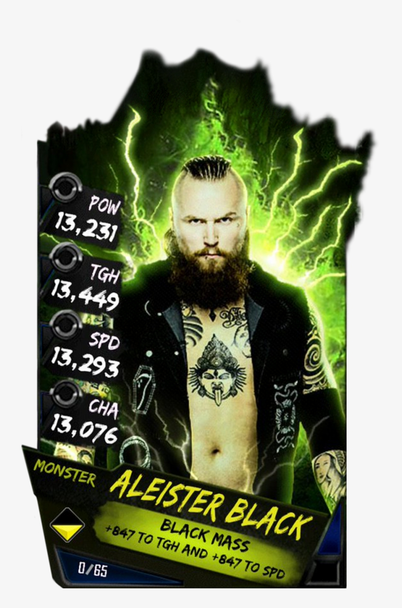 Supercard Aleisterblack S3 14 Wrestlemania33 Fusion - Wwe Supercard Monster Cards, transparent png #1731345