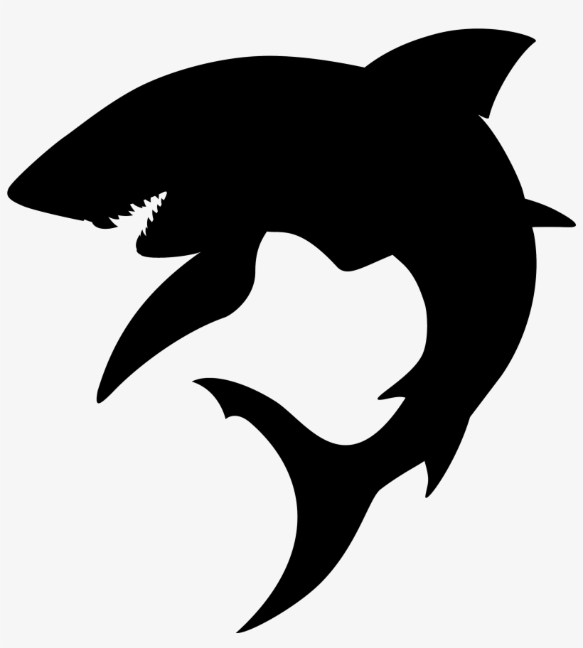 2b6b7a0ee7075 Great White Shark Silhouette Tattoo - Shark Silhouettes - Free ...