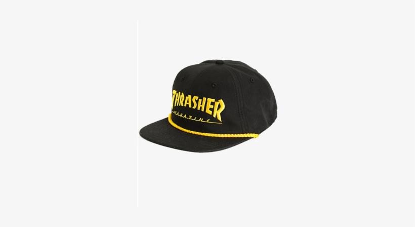 c6bdb06648866 Thrasher Rope Snapback Cap - Men s Thrasher Magazine Logo Snapback Hat