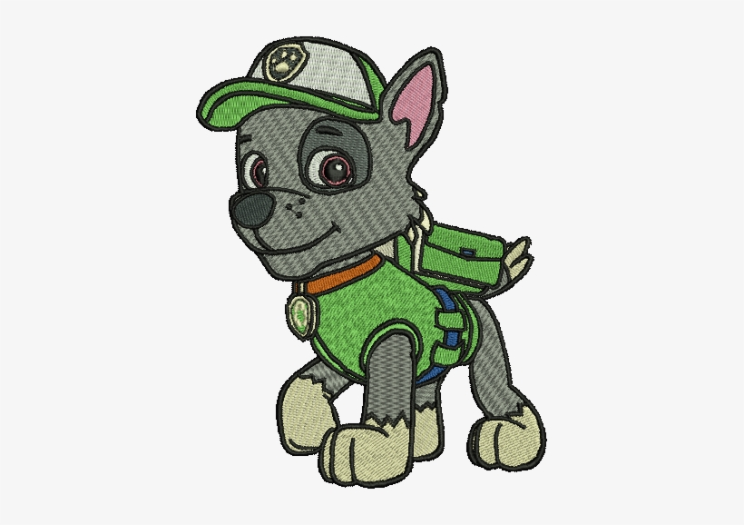 Rocky Paw Patrol Embroidery Designs Cartoon Character Rocky Paw