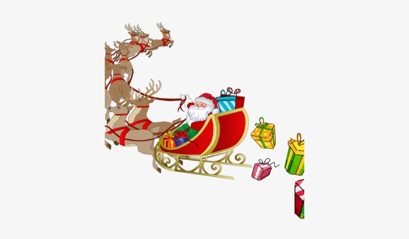 Free Stock Best Photos Of And Graphics Reindeer His - Santa And Sleigh Png, transparent png #1733940
