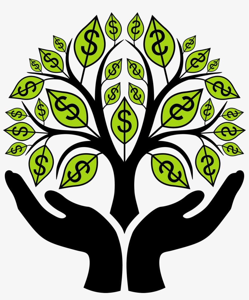 Finance Clipart Financial ~ Frames ~ Illustrations - Money Tree Clip Art, transparent png #1735555