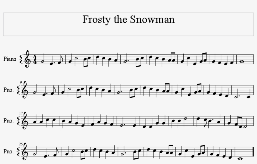 picture about Vintage Christmas Sheet Music Printable,frosty the Snowman identified as Frosty The Snowman Melody Ranking - Frosty The Snowman Melody