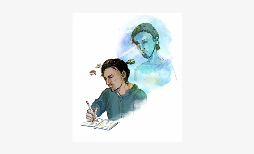 By A Process Of Slowing The Mind, And Writing Down - Illustration, transparent png #1737381