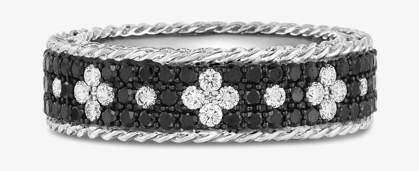 Roberto Coin 18k White Gold Ring With Fleur De Lis - Bracelet, transparent png #1737512