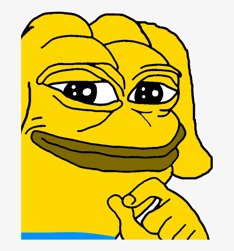 """Since Pepe Is Officially A """"hate Symbol"""" Now, I Created - Pepe The Frog Black And White, transparent png #1737717"""