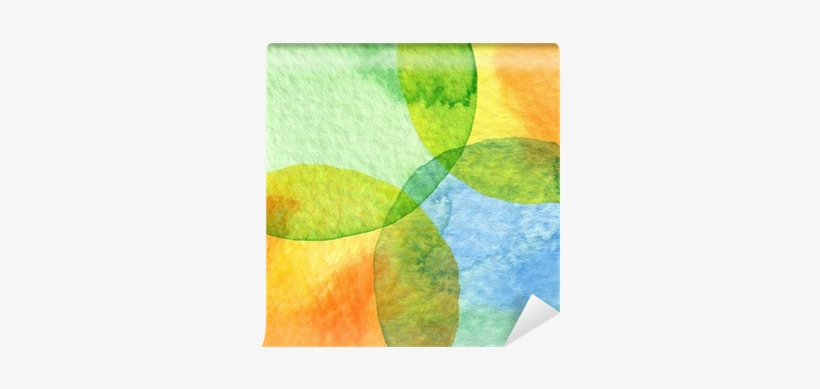 Abstract Watercolor Circle Painted Background Wall - Watercolor Painting, transparent png #1737962