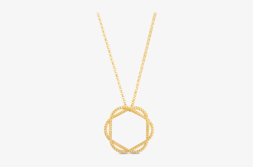 18k Yellow Gold Circle Pendant - Roberto Coin New Barocco Collection, transparent png #1738716