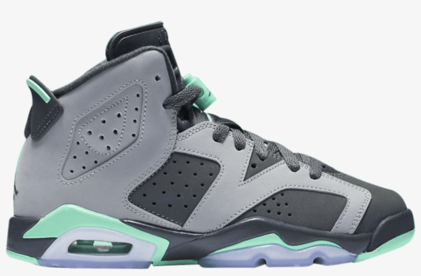 new concept b47ab 5607e Air Jordan 6 Gs  green Glow  - Girls Jordan Retro 6 Basketball Shoe - Grade  School