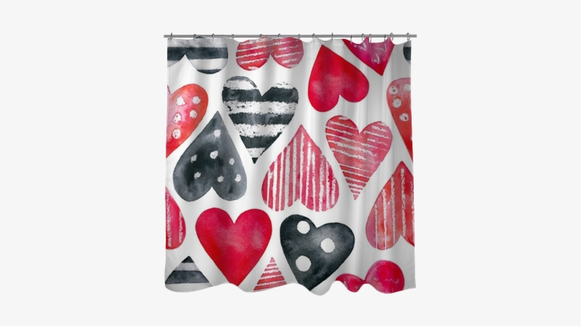 Watercolor Hearts Seamless Pattern - Watercolor Painting, transparent png #1739412