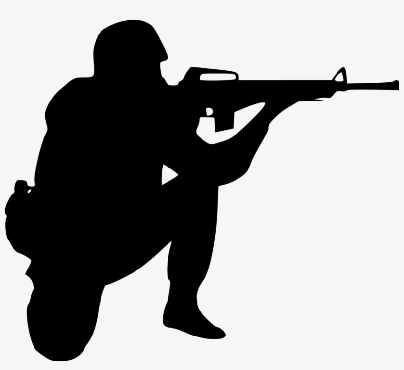 Black, Icon, Outline, World, War, Symbol, Drawing, - Soldier Clipart, transparent png #1741463