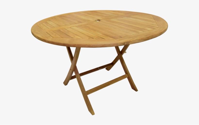Al Fresco Round Folding 120cm Bistro Garden Table - Octagonal Teak Outdoor Table, transparent png #1741612