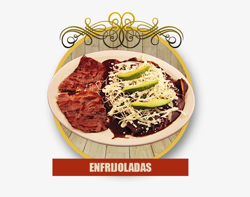 Three Mexican Cheese Enchiladas Topped With Black Beans, - Los Marquez Mexican Restaurant, transparent png #1741942