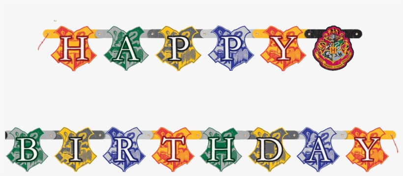 Harry Potter Birthday Banner - Harry Potter Happy Birthday Jointed Banner 182cm, transparent png #1743109