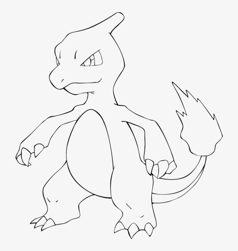 Clip Freeuse Download Charmeleon Drawing Easy - Pokemon ...