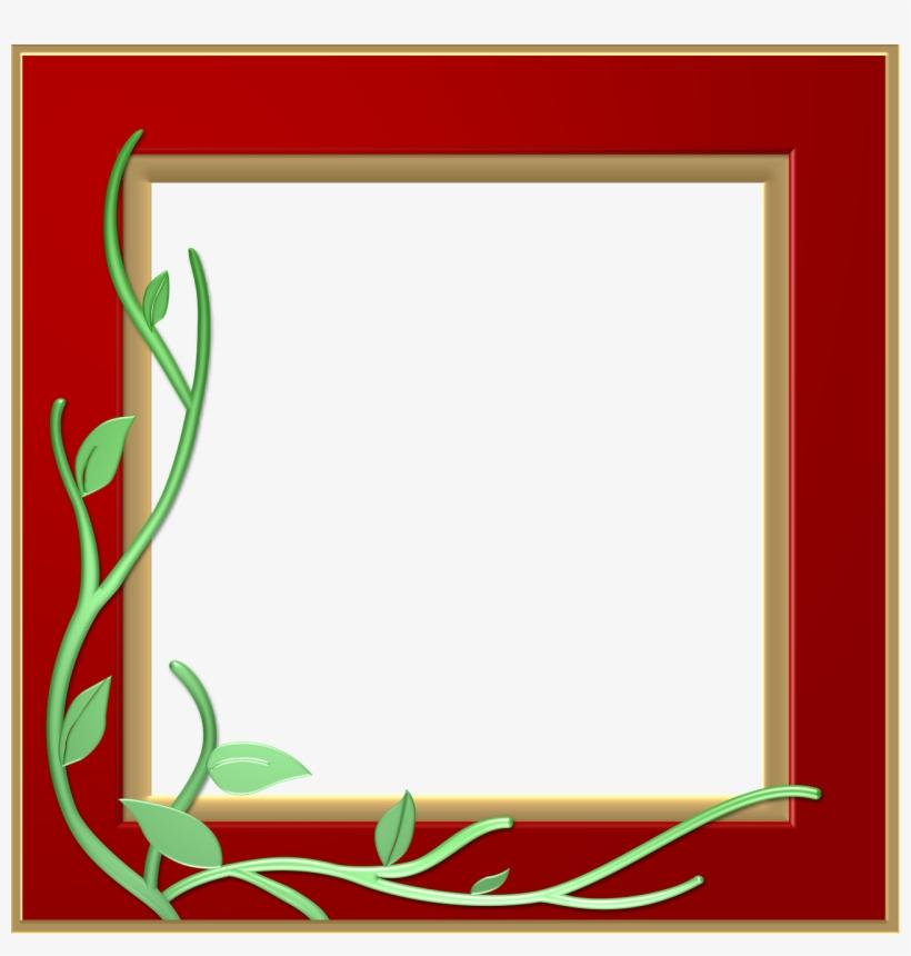 Red Border Frame Png Transparent - Red Frame Border Design, transparent png #1745336