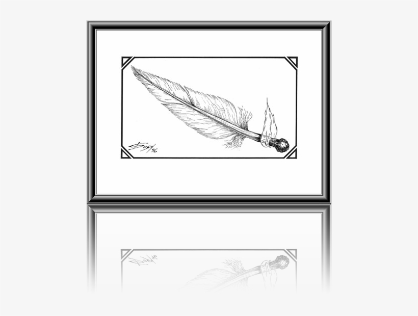 Matchbox Feather - - Drawing, transparent png #1747432