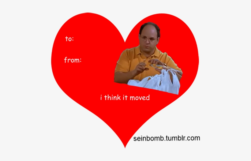 Seinfeld Valentine's Day Cards - Valentines Day Meme Seinfeld, transparent png #1747511