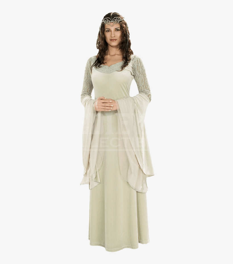 Adult Lotr Deluxe Queen Arwen Costume - Lord Of The Rings Elf Halloween Costume, transparent png #1748621