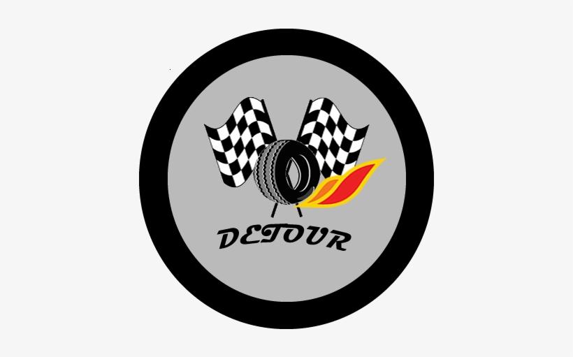 Logo Design By Bayley For Detour Wheels Pte Ltd - Lightning Mc Queen Flag, transparent png #1749159