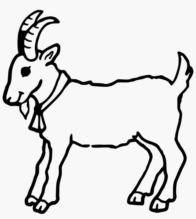 Boer Goat Coloring Book Cute Colouring Anglo Nubian Clip Art