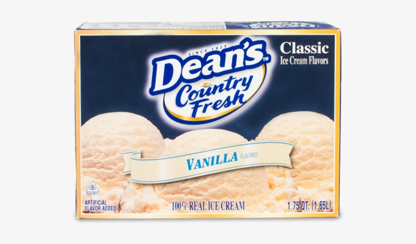 Dean's Country Fresh Classic Vanilla Ice Cream - Deans Mint Chocolate Chip Ice Cream, transparent png #1755419