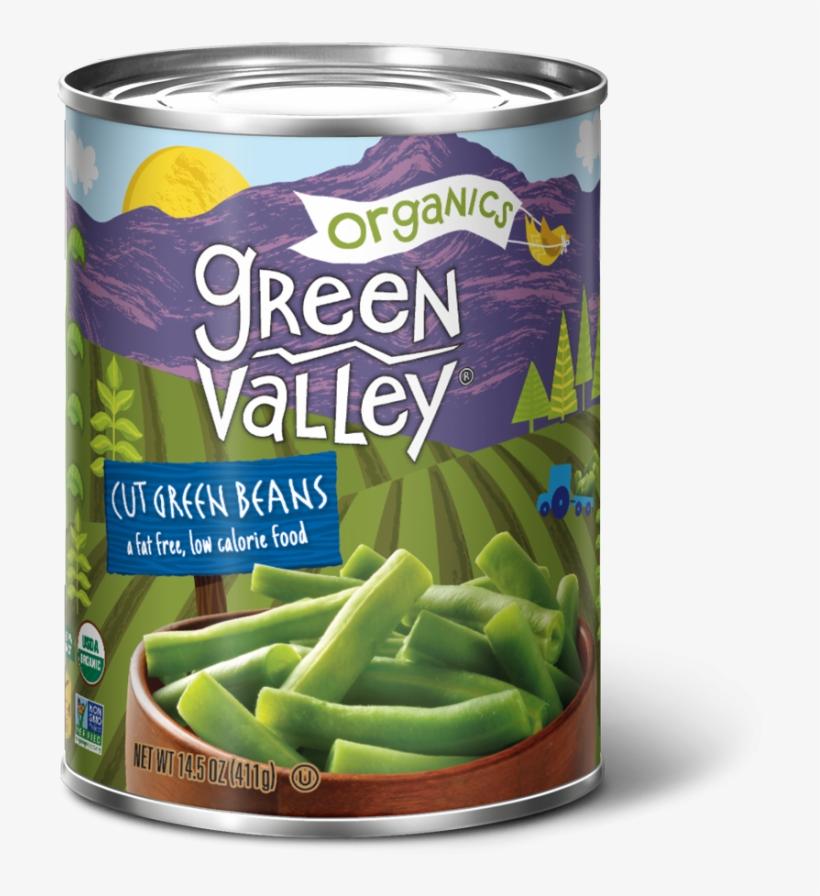 Our Green Beans - Green Valley Organics Green Beans, Cut - 14.5 Oz, transparent png #1757477