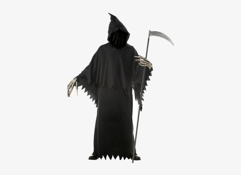 Look Like Death This Halloween With The Adult Grim - Grim Reaper Deluxe Costume, transparent png #1758884