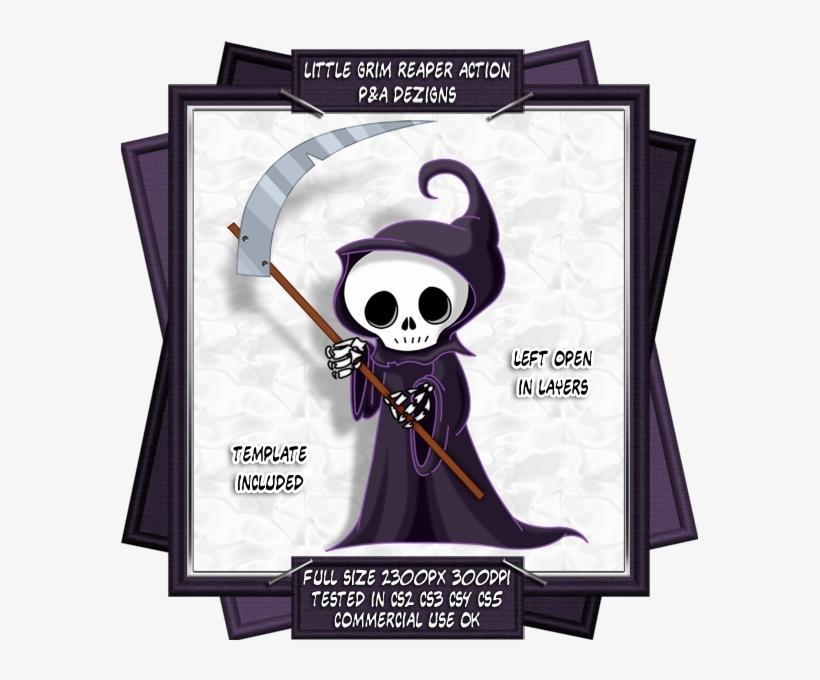 Everyone Loves A Little Grim Reaper, With His Cute - Cute Cartoon Grim Reaper, transparent png #1758949