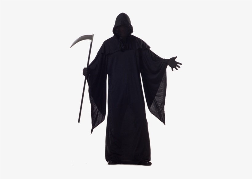Bring Fear To Halloween With The Scary Adult Grim Reaper - Black Grim Reaper Costume, transparent png #1759098