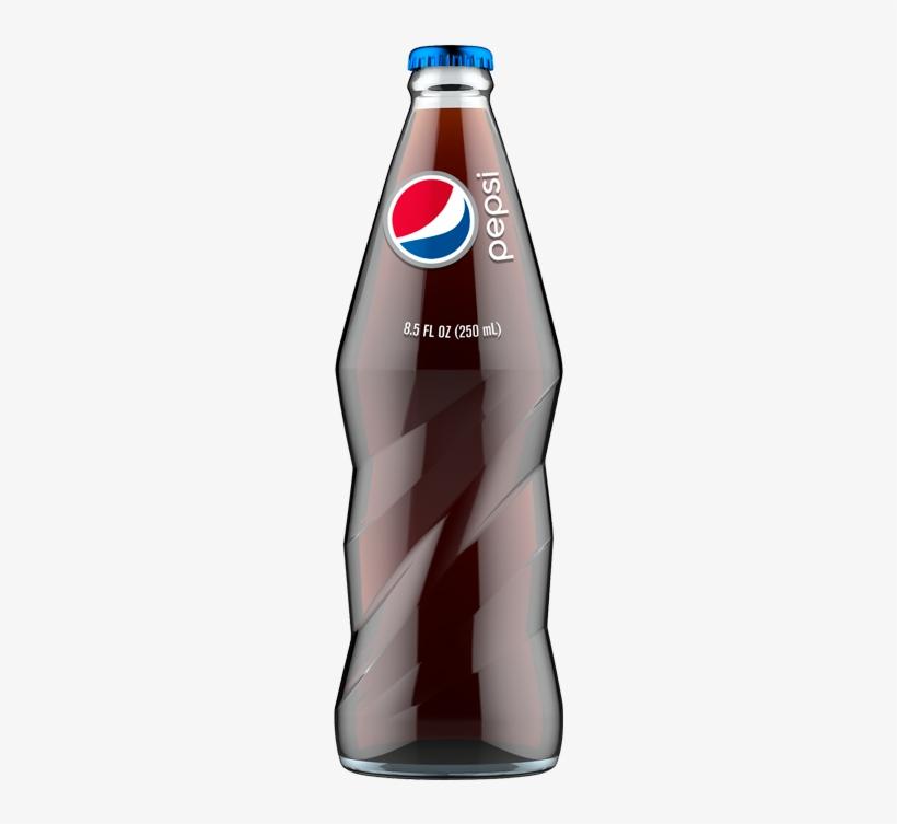 Pepsi Cola 8.5 Fl. Oz. Glass Bottle, transparent png #1759506